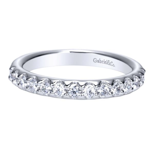 14K White Gold Round 14 Stone Diamond Anniversary Band Koerber's Fine Jewelry, Inc. New Albany, IN