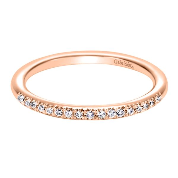 14K Rose Gold Prong Set Diamond Wedding Band Koerber's Fine Jewelry, Inc. New Albany, IN