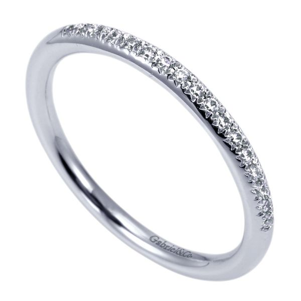 14K White Gold Prong Set Diamond Wedding Band Image 2 Koerber's Fine Jewelry, Inc. New Albany, IN