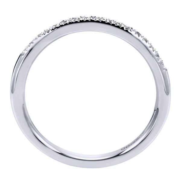 14K White Gold Prong Set Diamond Wedding Band Image 3 Koerber's Fine Jewelry, Inc. New Albany, IN