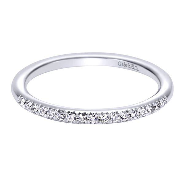 14K White Gold Prong Set Diamond Wedding Band Koerber's Fine Jewelry, Inc. New Albany, IN
