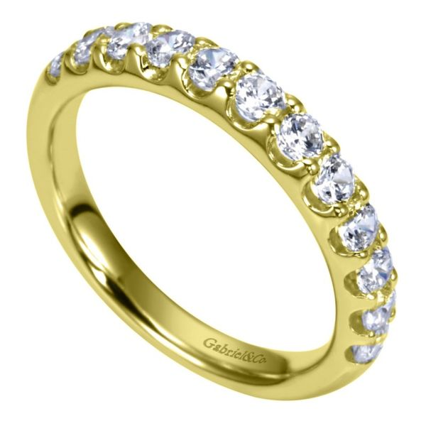 14K Yellow Gold Round 12 Stone Diamond Anniversary Band Image 2 Koerber's Fine Jewelry, Inc. New Albany, IN