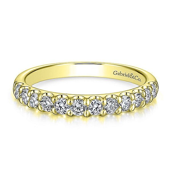 14K Yellow Gold Round 12 Stone Diamond Anniversary Band Koerber's Fine Jewelry, Inc. New Albany, IN