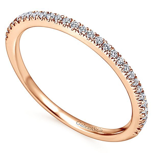 14K Rose Gold Shared Prong Diamond Wedding Band Image 2 Koerber's Fine Jewelry, Inc. New Albany, IN