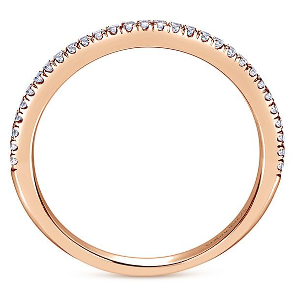 14K Rose Gold Shared Prong Diamond Wedding Band Image 3 Koerber's Fine Jewelry, Inc. New Albany, IN
