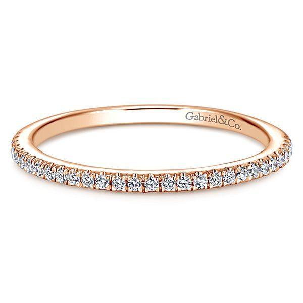 14K Rose Gold Shared Prong Diamond Wedding Band Koerber's Fine Jewelry, Inc. New Albany, IN