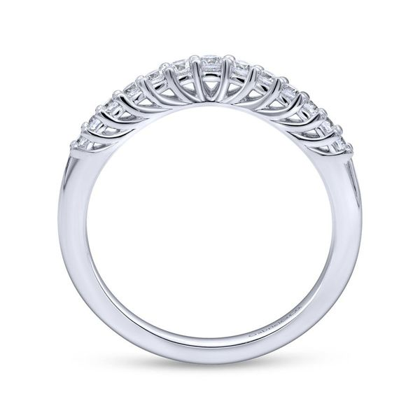 14K White Gold Curved Shared Prong Set Band Image 2 Koerber's Fine Jewelry, Inc. New Albany, IN