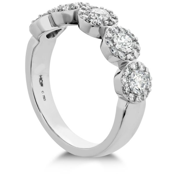 18K White Gold Hearts On Fire Fulfillment Round Diamond Wedding Band Image 3 Koerber's Fine Jewelry, Inc. New Albany, IN