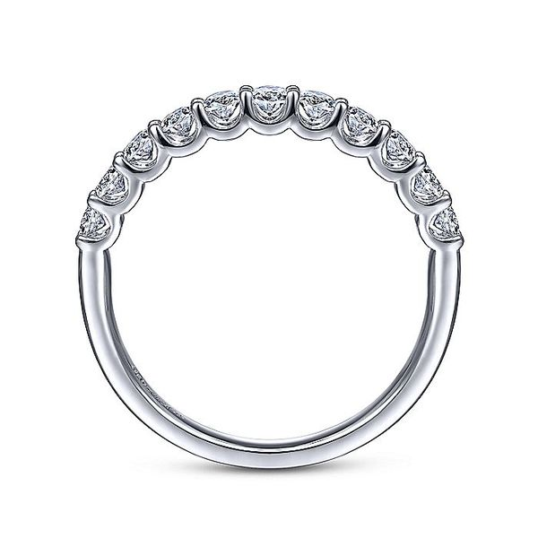 14K White Gold Round 11 Stone Diamond Anniversary Band Image 2 Koerber's Fine Jewelry, Inc. New Albany, IN