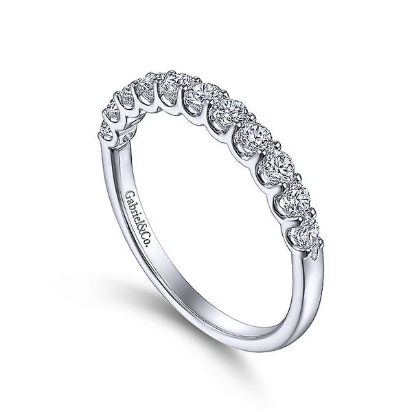 14K White Gold Round 11 Stone Diamond Anniversary Band Image 3 Koerber's Fine Jewelry, Inc. New Albany, IN