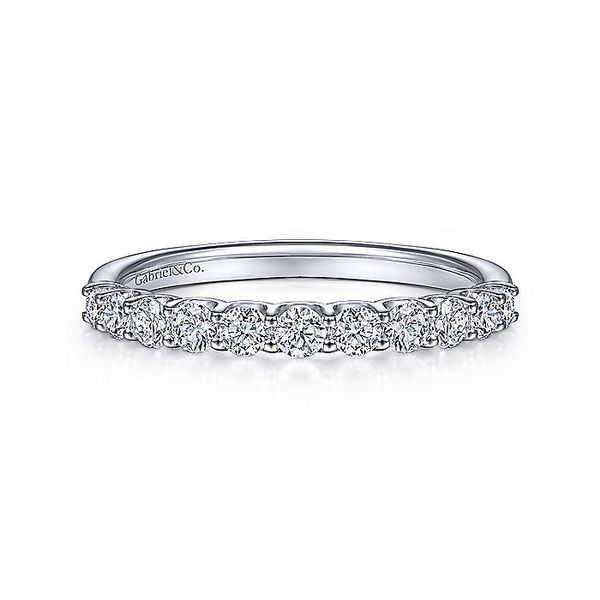 14K White Gold Round 11 Stone Diamond Anniversary Band Koerber's Fine Jewelry, Inc. New Albany, IN