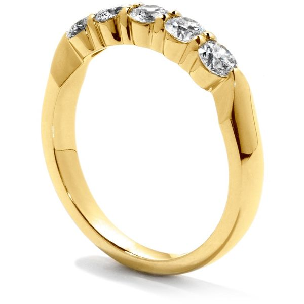 18K Yellow Gold Five-Stone Diamond Wedding Band Image 2 Koerber's Fine Jewelry, Inc. New Albany, IN