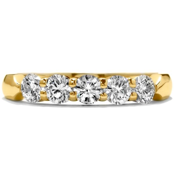18K Yellow Gold Five-Stone Diamond Wedding Band Koerber's Fine Jewelry, Inc. New Albany, IN