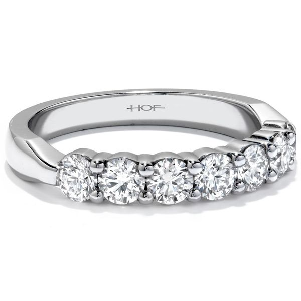 18K White Gold Seven-Stone Wedding Band Image 2 Koerber's Fine Jewelry, Inc. New Albany, IN
