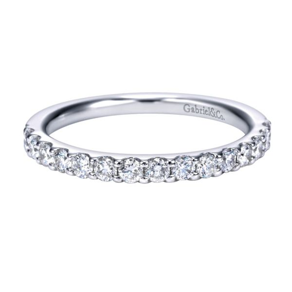 14K White Gold Shared Prong Diamond Band Koerber's Fine Jewelry, Inc. New Albany, IN