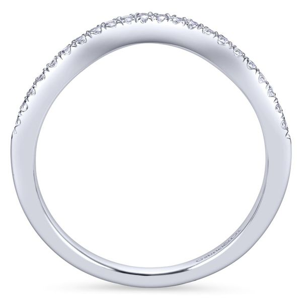 14K White Gold Curved Prong Set Contour Diamond Wedding Band Image 3 Koerber's Fine Jewelry, Inc. New Albany, IN