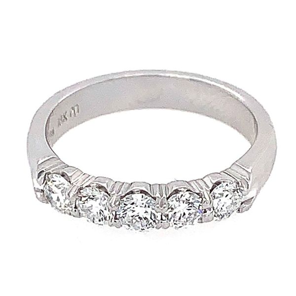 18K White Gold Five Stone Diamond Wedding Band Koerber's Fine Jewelry, Inc. New Albany, IN