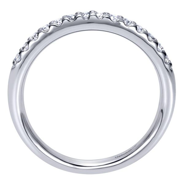 14K White Gold Shared Prong Straight Diamond Wedding Band Image 2 Koerber's Fine Jewelry, Inc. New Albany, IN