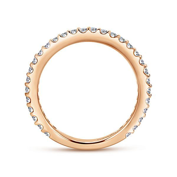 14K Rose Gold Diamond Stackable or Wedding Band Image 2 Koerber's Fine Jewelry, Inc. New Albany, IN