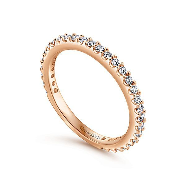14K Rose Gold Diamond Stackable or Wedding Band Image 3 Koerber's Fine Jewelry, Inc. New Albany, IN