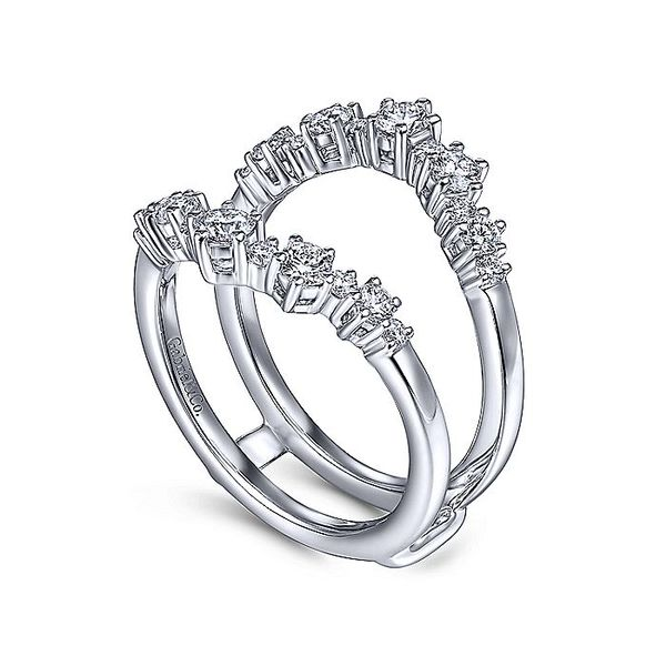 14K White Gold Prong Set Diamond Wedding Enhancer Image 2  ,