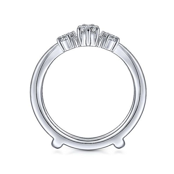14K White Gold Prong Set Diamond Wedding Enhancer Image 3  ,