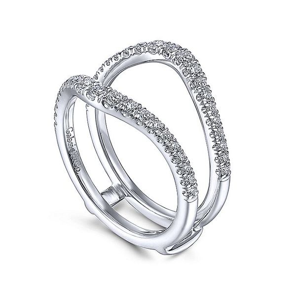 14K White Gold  Diamond Wedding Enhancer Image 2  ,