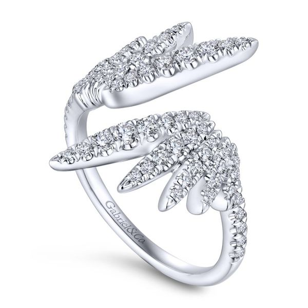 Lady's 14K White Gold Contemporary Design Fashion Ring Image 2  ,