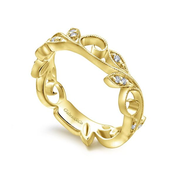 14k Yellow Gold Stackable Ladies Ring Image 2  ,