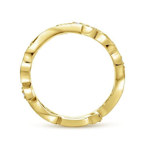 14k Yellow Gold Stackable Ladies Ring Image 3  ,