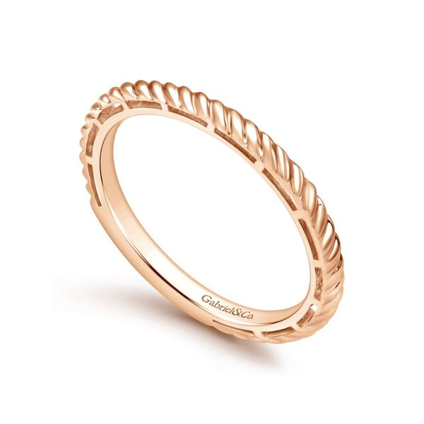 Lady's 14k Rose Gold Stackable Ladies Ring Image 2  ,
