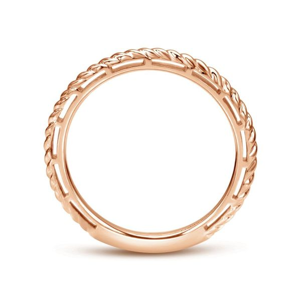 Lady's 14k Rose Gold Stackable Ladies Ring Image 3  ,