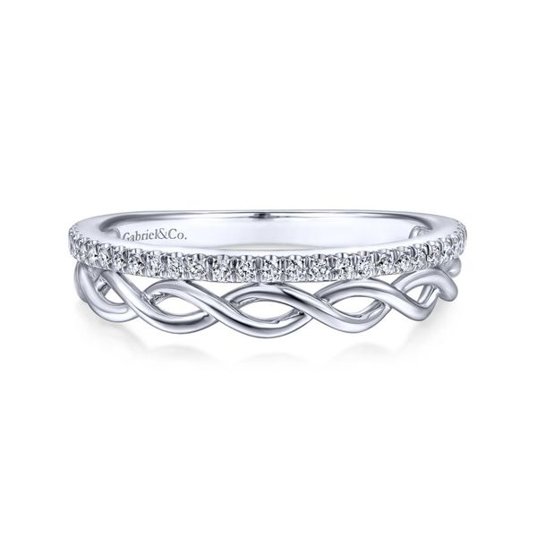 14K White Gold Diamond Fashion Ring Image 2  ,