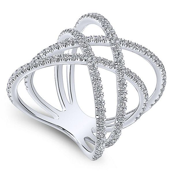 LAYERED WOVEN DIAMOND FASHION RING Image 2  ,