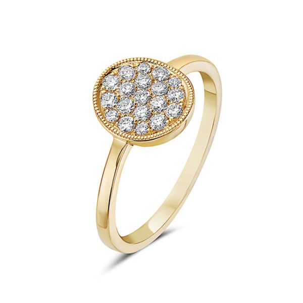 14K Yellow Gold Diamond Oval Fashion Ring Koerber's Fine Jewelry, Inc. New Albany, IN
