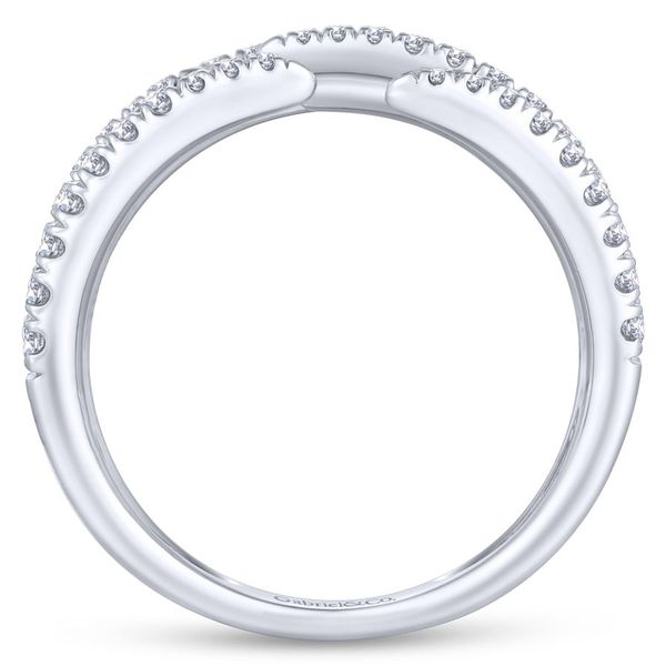 14K White Gold Open Wide Band Pave Diamond Ring Image 3 Koerber's Fine Jewelry, Inc. New Albany, IN