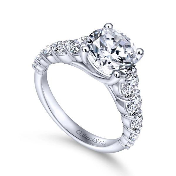 14K White Gold Round Diamond Engagement Ring Image 2 Koerber's Fine Jewelry, Inc. New Albany, IN