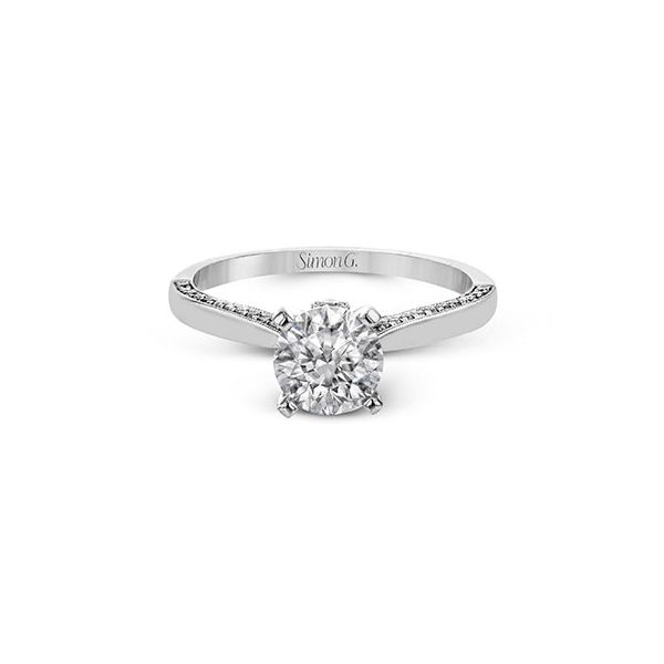 18K White Gold Round Solitaire Engagement Ring Image 2 Koerber's Fine Jewelry, Inc. New Albany, IN