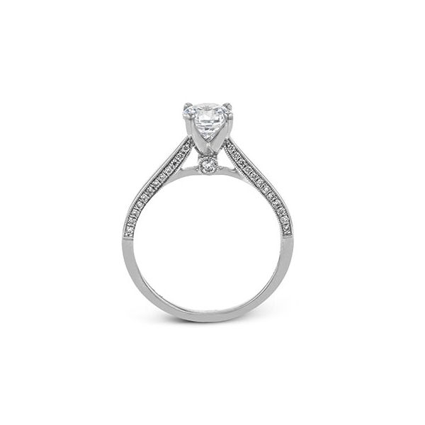 18K White Gold Round Solitaire Engagement Ring Image 3 Koerber's Fine Jewelry, Inc. New Albany, IN