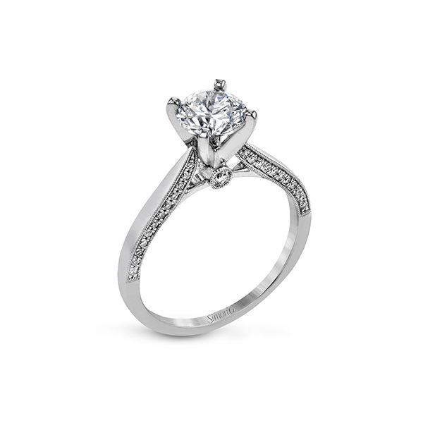 18K White Gold Round Solitaire Engagement Ring Koerber's Fine Jewelry, Inc. New Albany, IN