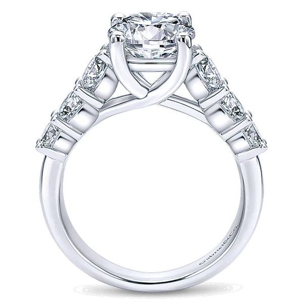 14K White Gold 7 Stone Diamond Engagement Ring Image 3  ,