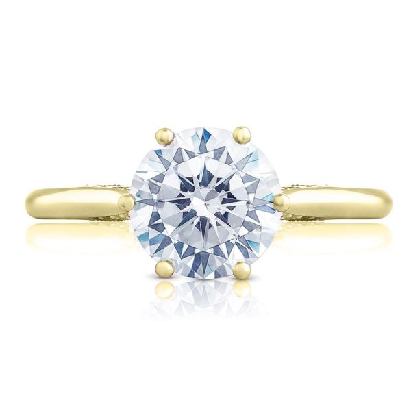 79f609f88af08 18K Yellow Gold Simply Tacori Round Solitaire Engagement Ring