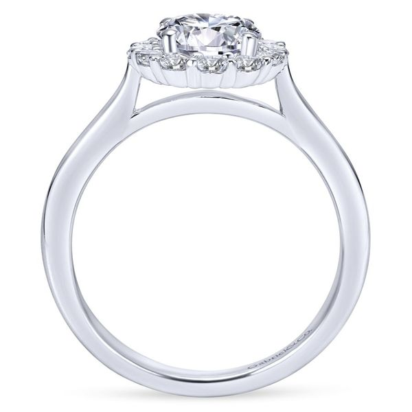 14K White Gold Round Halo Engagement Ring Image 3 Koerber's Fine Jewelry, Inc. New Albany, IN