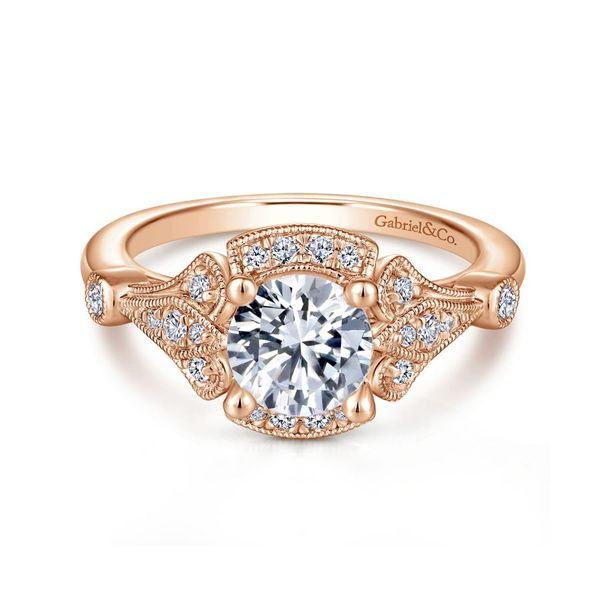 14K Rose Gold Vintage Engagement Ring