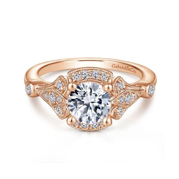 14K Rose Gold Vintage Engagement Ring