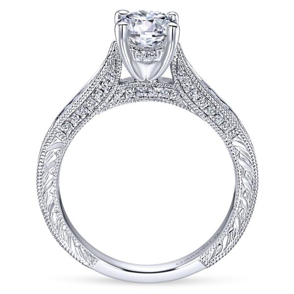 14K White Gold Vintage Inspired Engagement Ring Image 3 Koerber's Fine Jewelry, Inc. New Albany, IN
