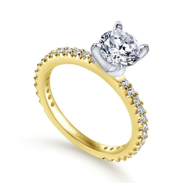 14K Yellow Gold Solitaire Engagement Ring Image 2 Koerber's Fine Jewelry, Inc. New Albany, IN