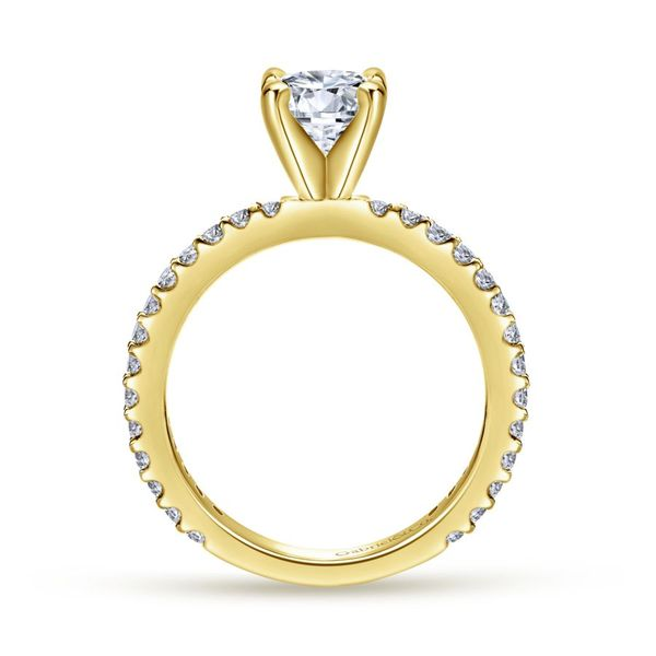 14K Yellow Gold Solitaire Engagement Ring Image 3 Koerber's Fine Jewelry, Inc. New Albany, IN