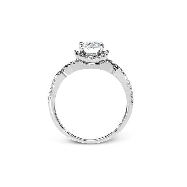 18K White Gold Oval Halo Engagement Ring Image 3 Koerbers Fine Jewelry Inc New Albany, IN