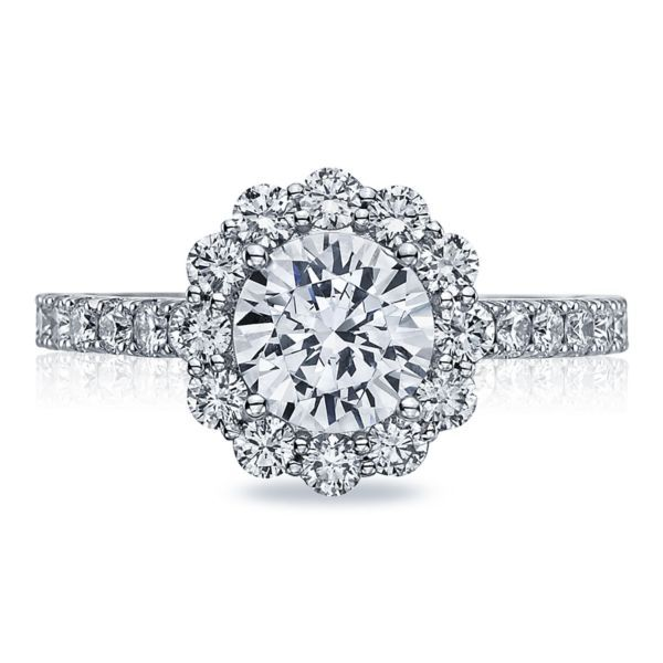 Platinum Full Bloom Tacori Engagement Ring Koerber's Fine Jewelry, Inc. New Albany, IN